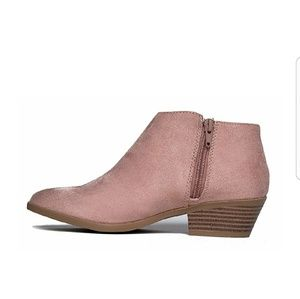 Shoes - Mauve Suede Ankle Booties